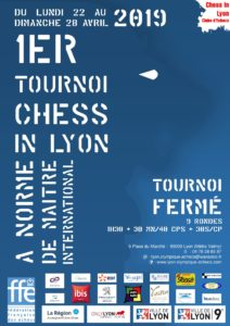 1er Tournoi Fermé Chess In Lyon à norme de Maitre International @ Mairie du 9ème / LOE